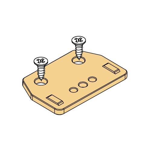 Plissee Faltstore Montageplatte