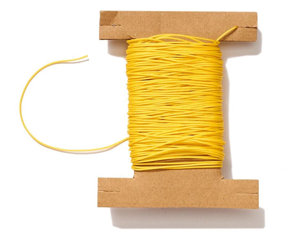 Plisseeschnur gelb