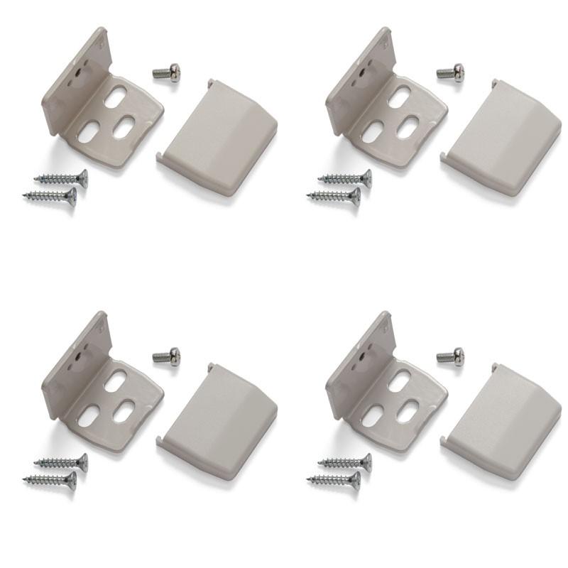 Plissee Montagewinkel grau Set