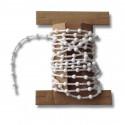 Kette Lamellenvorhang Kugelabstand 12 mm weiß Meterware