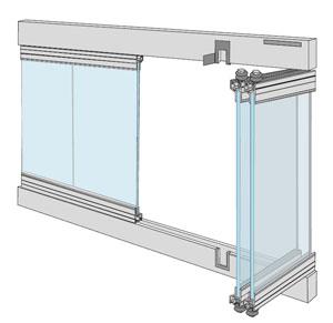 Terrassentür mit schmalem Rahmen