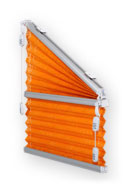 Cosiflor Giebel Plissee in orange