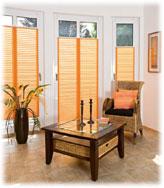 Blendschutz Plissee in der Farbe Orange