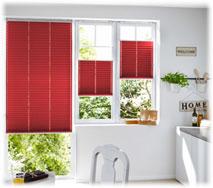 Küchen Plissee Rot